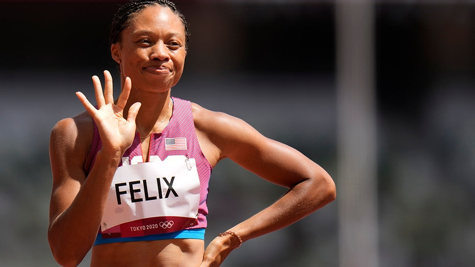 US track star Allyson Felix makes Olympic history with bronze medal