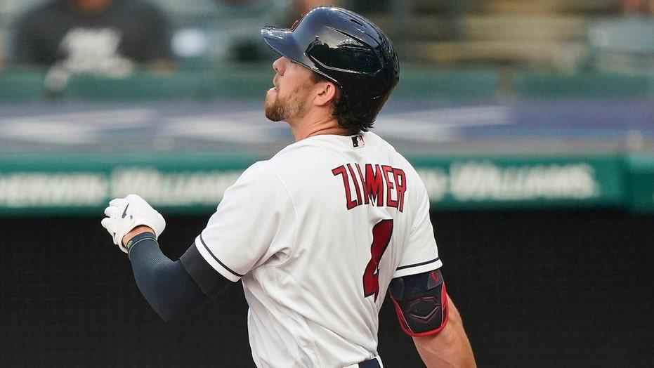 Zimmer's 465-foot HR, big innings lead Indians past Rangers