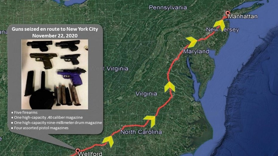 Georgia 'gun pipeline' that 'flooded' NYC with illegal firearms shutdown, nine indicted, feds say