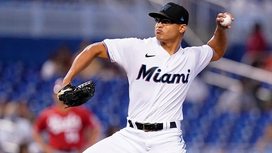 Luzado pitches 6 shutout innings to help Miami beat Reds 2-1