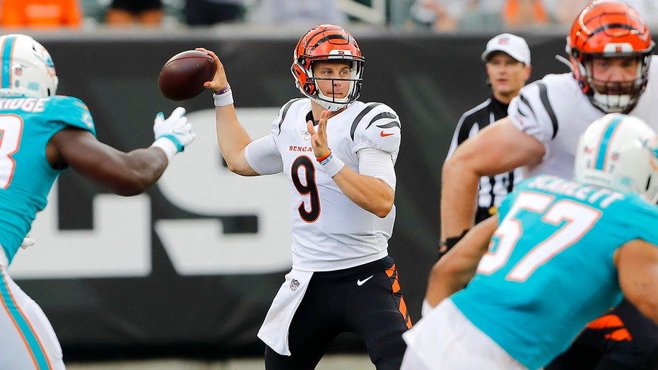 Burrow returns for Bengals as Dolphins rally for win