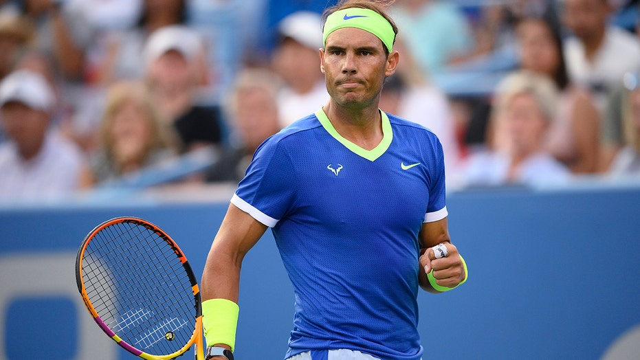 With painful foot, Nadal tops Sock at Washington in return