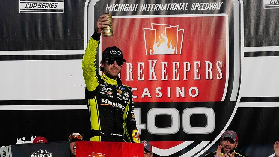 Ryan Blaney snags Michigan NASCAR win on final restart
