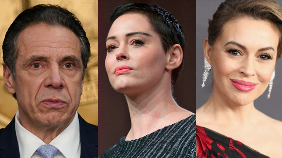 Rose McGowan tears into Alyssa Milano, Joe Biden, Time's Up CEO amid Cuomo scandal: 'Your time is up'