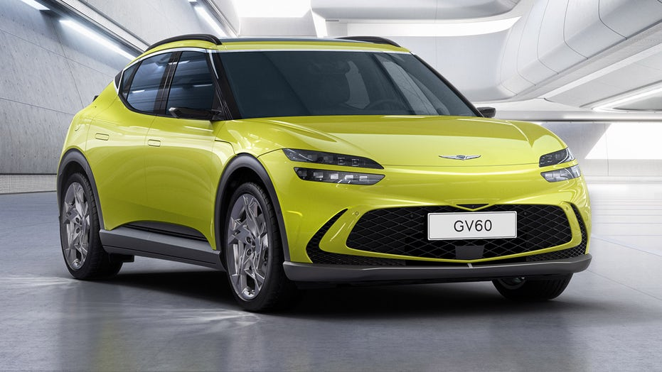 Electric Genesis GV60 debuts with bizarre 'crystal sphere' gearshift