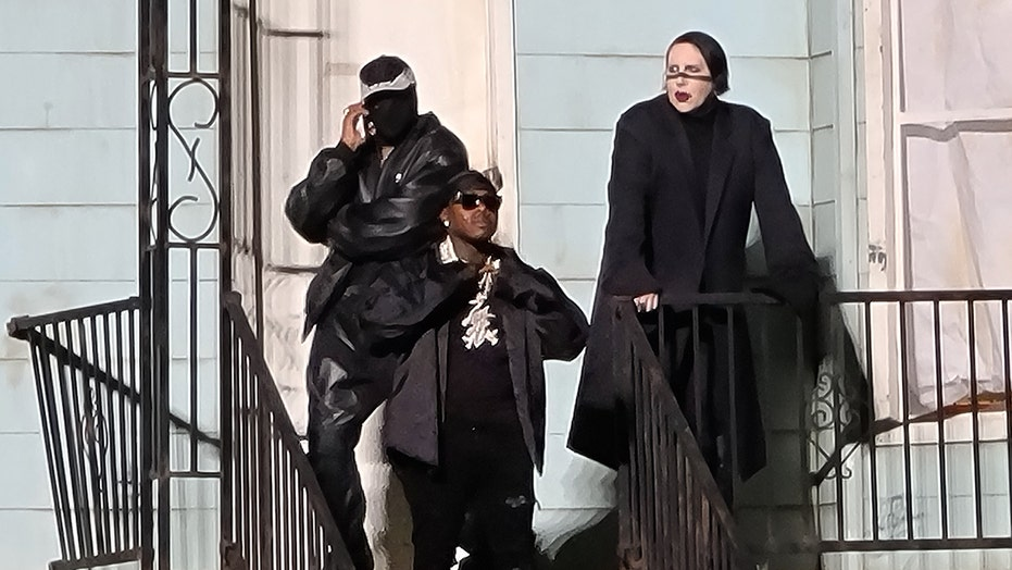Kanye West brings out Marilyn Manson, DaBaby at 'Donda' event, stirring controversy
