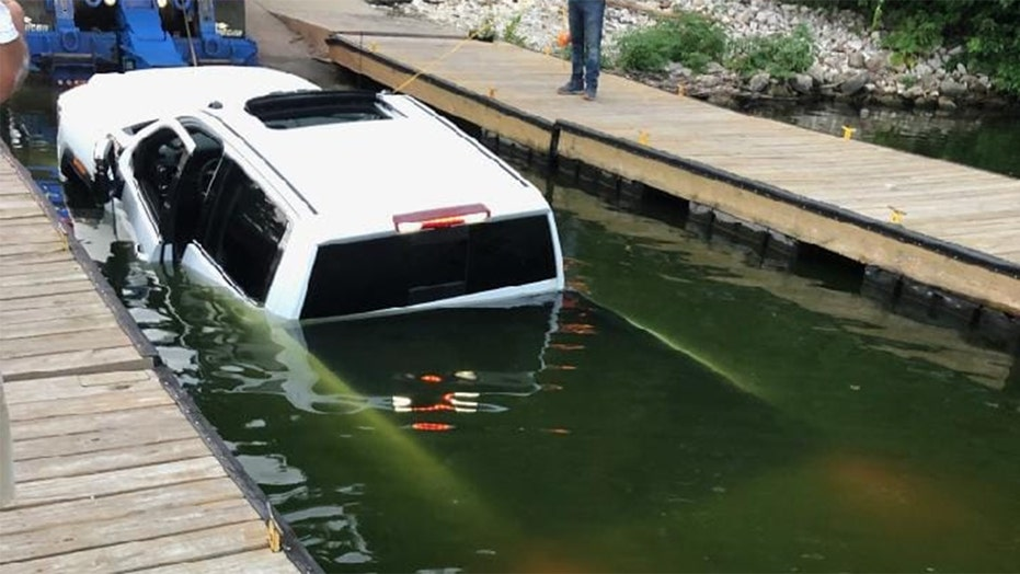 Pickup truck sinks in lake on live TV during boat launch mishap