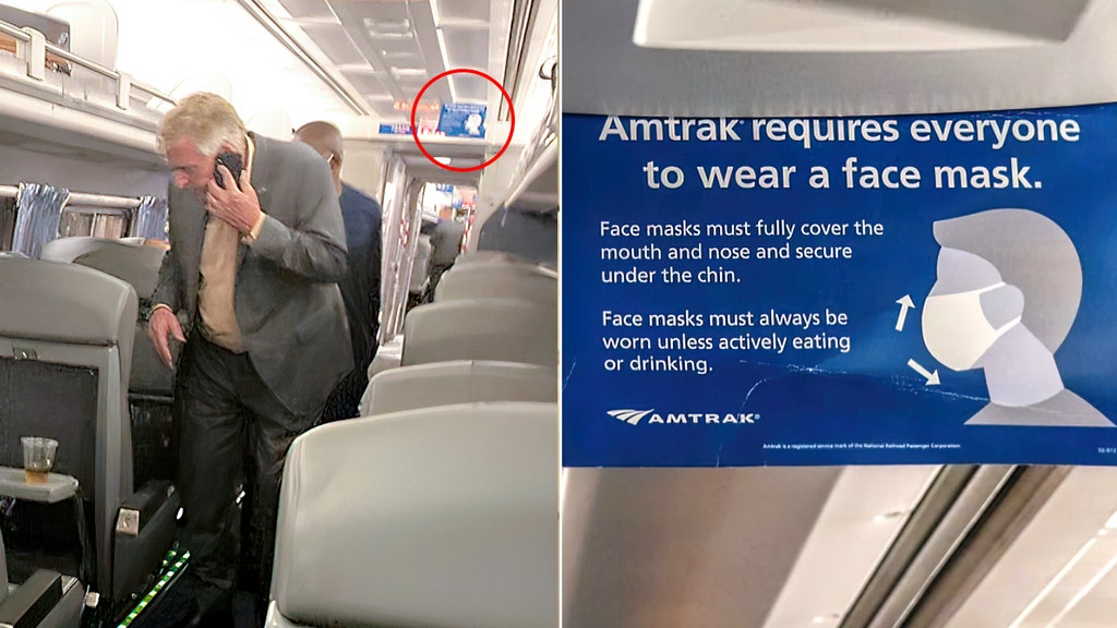 EXCLUSIVE: Train passenger erupts at hypocrisy as Dem flouts mask rules