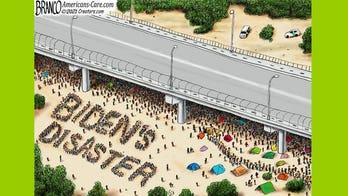 Political cartoon of the day: Bridge over Biden's disaster