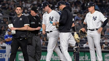 Yankees ace Cole exits with tightness in his left hamstring