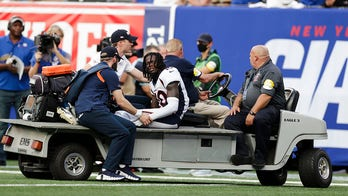 Broncos' Jerry Jeudy suffers ankle injury on cringeworthy play; team holds on for win