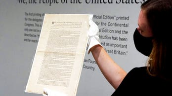 Rare US Constitution copy up for auction expected to fetch $15M