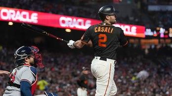 Curt Casali's 2-run single holds up, Giants beat Braves 2-0