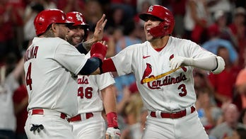 Carlson homers twice, Mikolas gets first win in two years