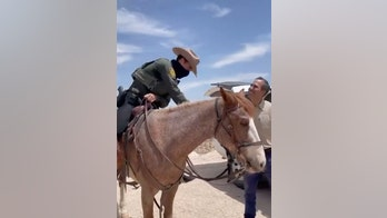 George P. Bush talks to horse-mounted border agents, slams idea they whipped migrants