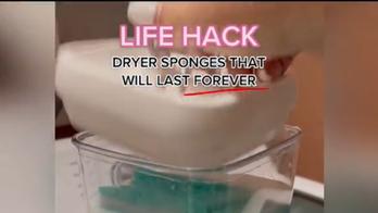 Woman's viral sponge hack said to be money-saving alternative to dryer sheets