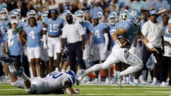 Howell figures in 5 TDs, No. 24 Tar Heels rout Georgia State
