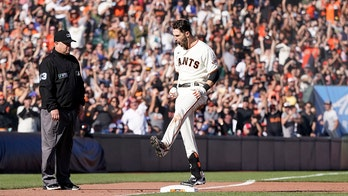 Duggar triples, Giants hold off Dodgers 6-4 for NL West lead