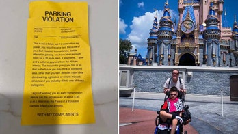 Family visiting Disney World receives harsh parking slip on their wheelchair-accessible van