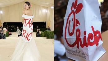 AOC's Met Gala dress sparks Chick-fil-A comparisons