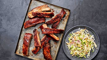 Oven-baked pork ribs with tamarind BBQ sauce for game day dinner