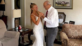Bride flies 800 miles to share 'first dance' with 94-year-old grandpa