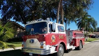 Honoring 9/11 first responders: Refurbished fire truck emblazoned with names of the fallen