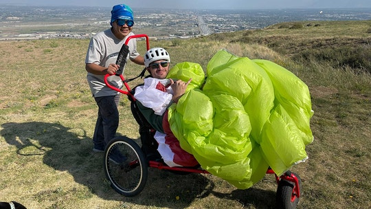 Former soldier flies solo with adaptive paragliding program