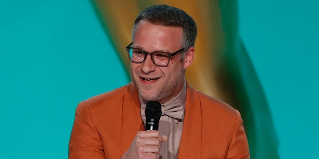 Seth Rogen commented o the lack of coronavirus safety measures taken by the Television Academy while presenting an Emmy Award on Sunday night.