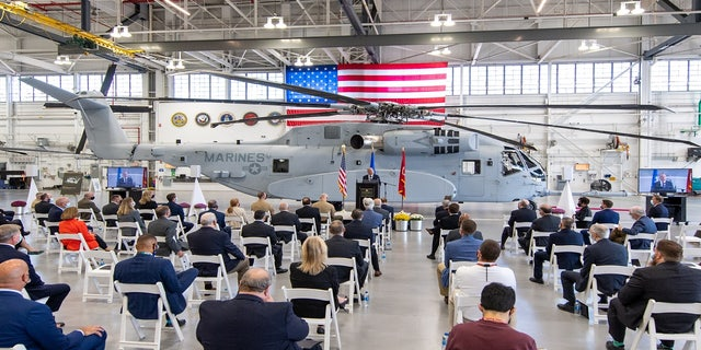 Sikorsky, a Lockheed Martin company, celebrated the first Connecticut built CH-53K helicopter in a ceremony at its Stratford, CT facility.