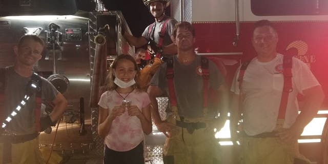 Mackenzie Jenkins, 11, received a Community Recognition Coin after she made a life-saving 9-1-1 call about a suspected fire in Cape Coral, Florida.