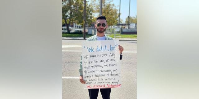 Willy Moosayar at protest (Credit: Willy Moosayar)