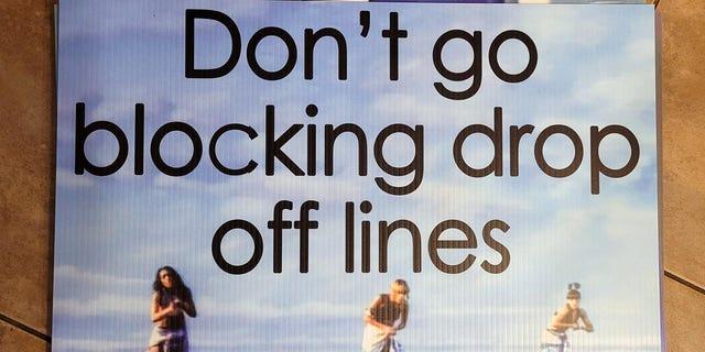 Hilarious PTA signs tell parents 'don't go blocking drop off lines'