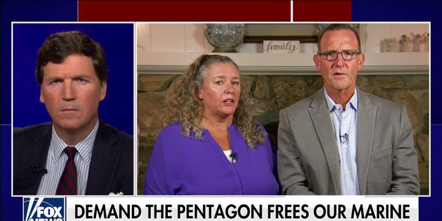 """Parents of Lt. Col. Stuart Scheller, Stu Sr. and Cathy, speak out on """"Tucker Carlson Tonight"""" after their marine son was incarcerated."""