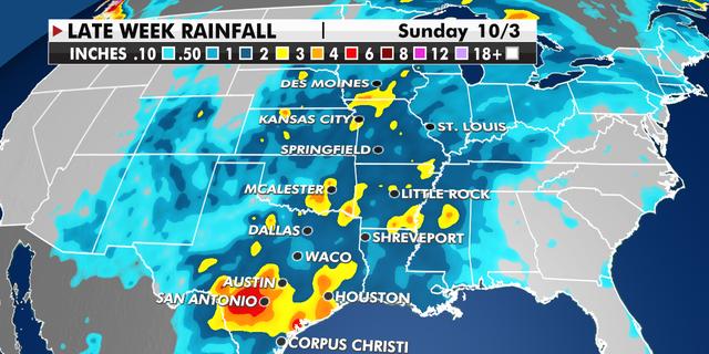 Late Week Rainfall