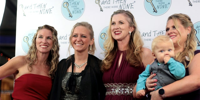 And Then There Were None staff at the Quitters Ball: Christy Decker (Case Manager at ProLove Ministries), Heather Gardner (Executive Director at Central Texas Coalition for Life), Katrina Rodriguez (North Site Coordinator for Central Texas Coalition for Life), Nichola Morrison (Client Manager at ATTWN and her son, Maverick).