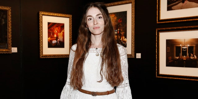 Artist Anna Marie Tendler photographed during The Other Art Fair Los Angeles presented by Saatchi Art in partnership with BOMBAY SAPPHIRE at Barker Hangar on September 23, 2021 in Santa Monica, California.