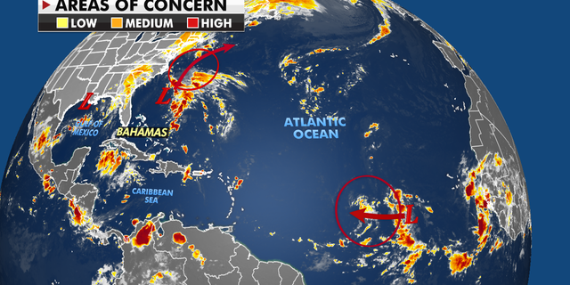 Areas of concern across the Atlantic