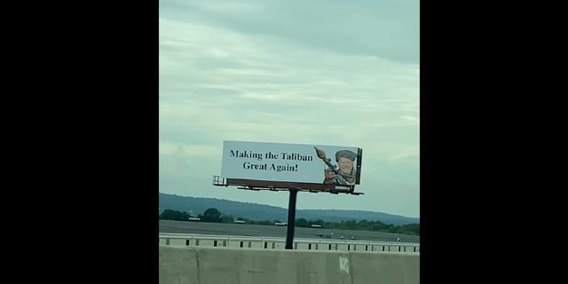 The billboards put up in Pennsylvania criticizing President Biden. (Courtesy Kathryn Sheaffer)