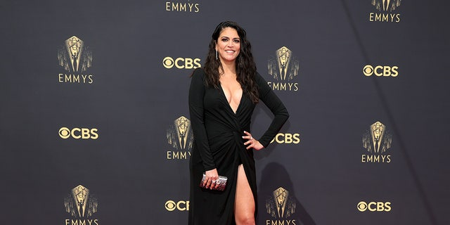 Cecily Strong at the 73rd annual Emmy Awards.