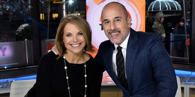 """Katie Couric and Matt Lauer are seen on the set of NBC's """"Today"""" show, Jan. 6, 2017. (Getty Images)"""