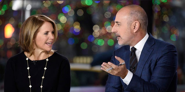 TODAY -- Matt Lauer's 20th Anniversary Celebration -- Pictured: (l-r) Katie Couric and anchor Matt Lauer on Friday, January 6, 2017 -- (Photo by: Peter Kramer/NBCU Photo Bank/NBCUniversal via Getty Images via Getty Images)