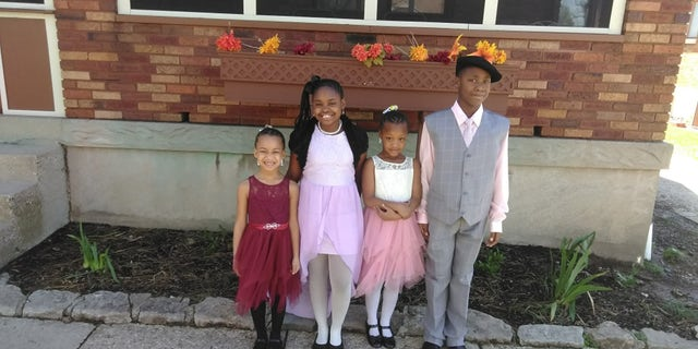 Shania, Wilnya, Sharleathea and William are pictured from left to right.