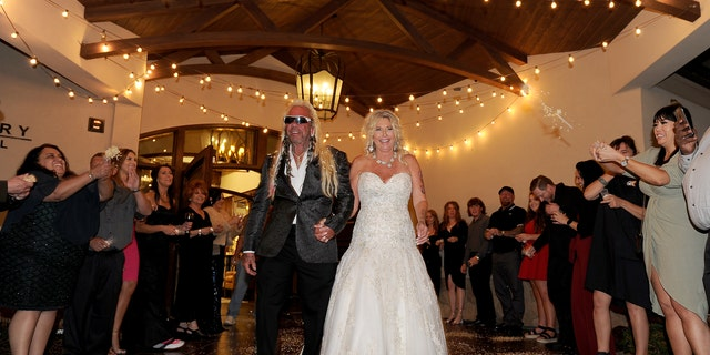 The bounty hunter's daughter Bonnie and step-daughter Cicily were not invited to the ceremony.