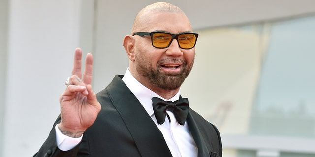 Dave Bautista adopted a dog that was previously abused.
