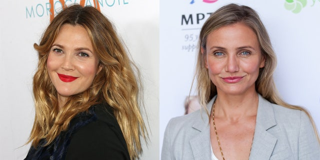 Drew Barrymore posted a photo of herself with Cameron Diaz and the two received praise for their looks.