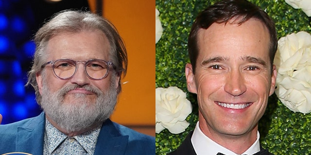 Drew Carey and former 'Price is Right' EP Mike Richards were spotted having breakfast at a diner in Los Angeles.