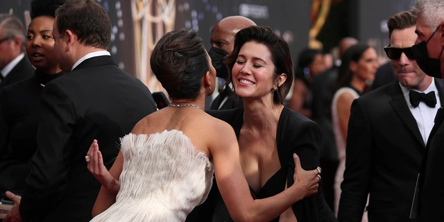 Mary Elizabeth Winstead arrives at the 73rd Emmy Awards at the JW Marriott on Sunday, Sept. 19, 2021 at L.A. LIVE in Los Angeles. (Photo by Danny Moloshok/Invision for the Television Academy/AP Images)