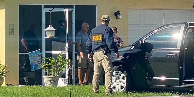 FBI agents at the Florida home of Brian Laundrie's parents Monday, Sept. 20, 2021. (Photo: Paul Best/Fox News)