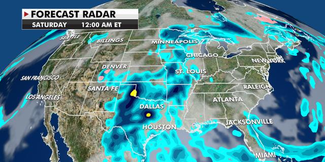 Forecast radar across the U.S.